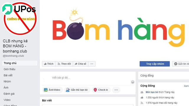 Sợ khách bom hàng, đã có Phần mềm chống BOM HÀNG UPos VN