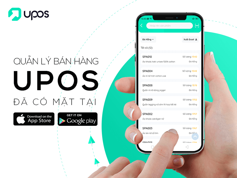 Ứng dụng bán hàng online UPOS VN
