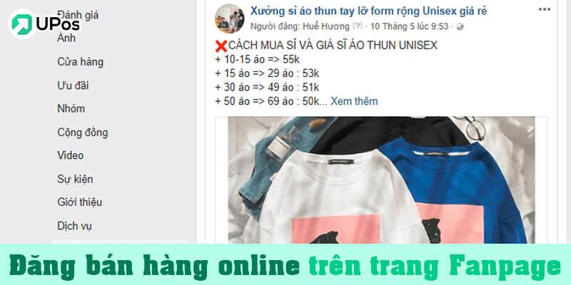 Cách đăng bài bán hàng online trên trang Fanpage