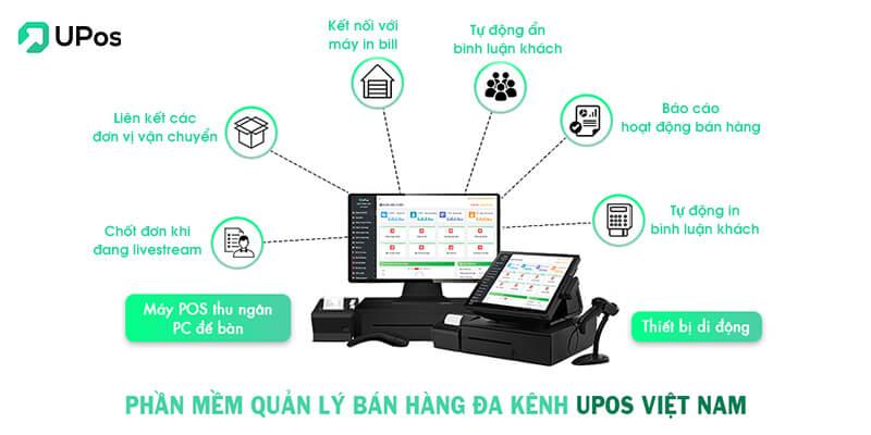 Phần mềm chốt đơn livestream bán hàng UPos