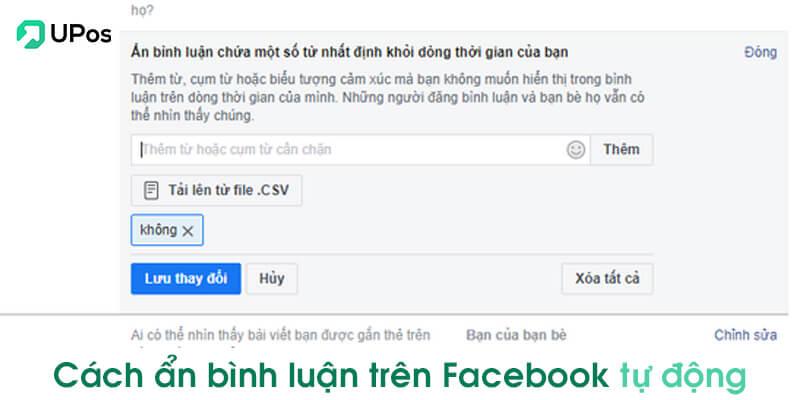 Cách ẩn bình luận trên Facebook tự động